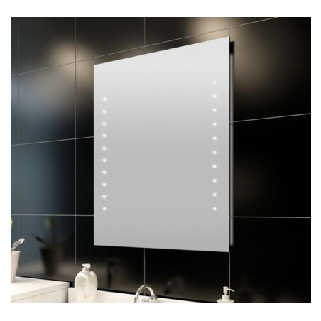 Miroir de salle de bain avec éclairage LED 60 x 80 cm(L x H)